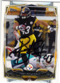 TROY POLAMALU PITTSBURGH STEELERS AUTOGRAPHED FOOTBALL CARD #122814G