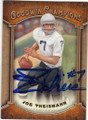 JOE THEISMANN NOTRE DAME FIGHTING IRISH AUTOGRAPHED FOOTBALL CARD #122914A