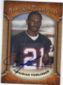 LaDAINIAN TOMLINSON TEXAS CHRISTIAN UNIVERSITY AUTOGRAPHED FOOTBALL CARD #10215F