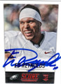 ED REYNOLDS PHILADELPHIA EAGLES AUTOGRAPHED ROOKIE FOOTBALL CARD #10315D