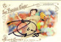 TIM LINCECUM SAN FRANCISCO GIANTS AUTOGRAPHED BASEBALL CARD #10515C