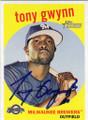 TONY GWYNN MILWAUKEE BREWERS AUTOGRAPHED BASEBALL CARD #10515H