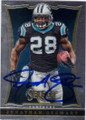 JONATHAN STEWART CAROLINA PANTHERS AUTOGRAPHED FOOTBALL CARD #10915L
