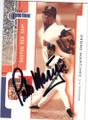 PEDRO MARTINEZ BOSTON RED SOX AUTOGRAPHED BASEBALL CARD #11015E