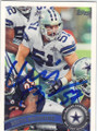 KEITH BROOKING DALLAS COWBOYS AUTOGRAPHED FOOTBALL CARD #11015F