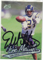 ERIC METCALF SAN DIEGO CHARGERS AUTOGRAPHED FOOTBALL CARD #11015K