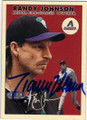 RANDY JOHNSON ARIZONA DIAMONDBACKS AUTOGRAPHED BASEBALL CARD #11115E