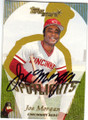 JOE MORGAN CINCINNATI REDS AUTOGRAPHED BASEBALL CARD #11115N