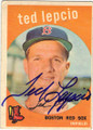 TED LEPCIO BOSTON RED SOX AUTOGRAPHED VINTAGE BASEBALL CARD #11215A