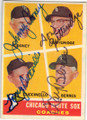 JOHNNY COONEY, DON GUTTERIDGE, TONY CUCCINELLO & RAY BERRES CHICAGO WHITE SOX 4 SIGNATURE VINTAGE BASEBALL CARD #11215D