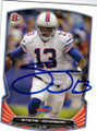 STEVE JOHNSON BUFFALO BILLS AUTOGRAPHED FOOTBALL CARD #11315L