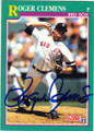 ROGER CLEMENS BOSTON RED SOX AUTOGRAPHED BASEBALL CARD #11415A