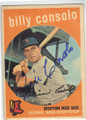 BILLY CONSOLO BOSTON RED SOX AUTOGRAPHED VINTAGE BASEBALL CARD #11415H