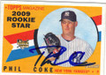 PHIL COKE NEW YORK YANKEES AUTOGRAPHED ROOKIE BASEBALL CARD #11515H