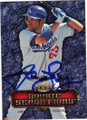 JAMES LONEY LOS ANGELES DODGERS AUTOGRAPHED BASEBALL CARD #11915E