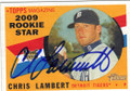 CHRIS LAMBERT DETROIT TIGERS AUTOGRAPHED BASEBALL CARD #11915O