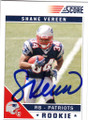 SHANE VEREEN NEW ENGLAND PATRIOTS AUTOGRAPHED ROOKIE FOOTBALL CARD #12115A