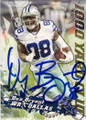 DEZ BRYANT DALLAS COWBOYS AUTOGRAPHED FOOTBALL CARD #12115O