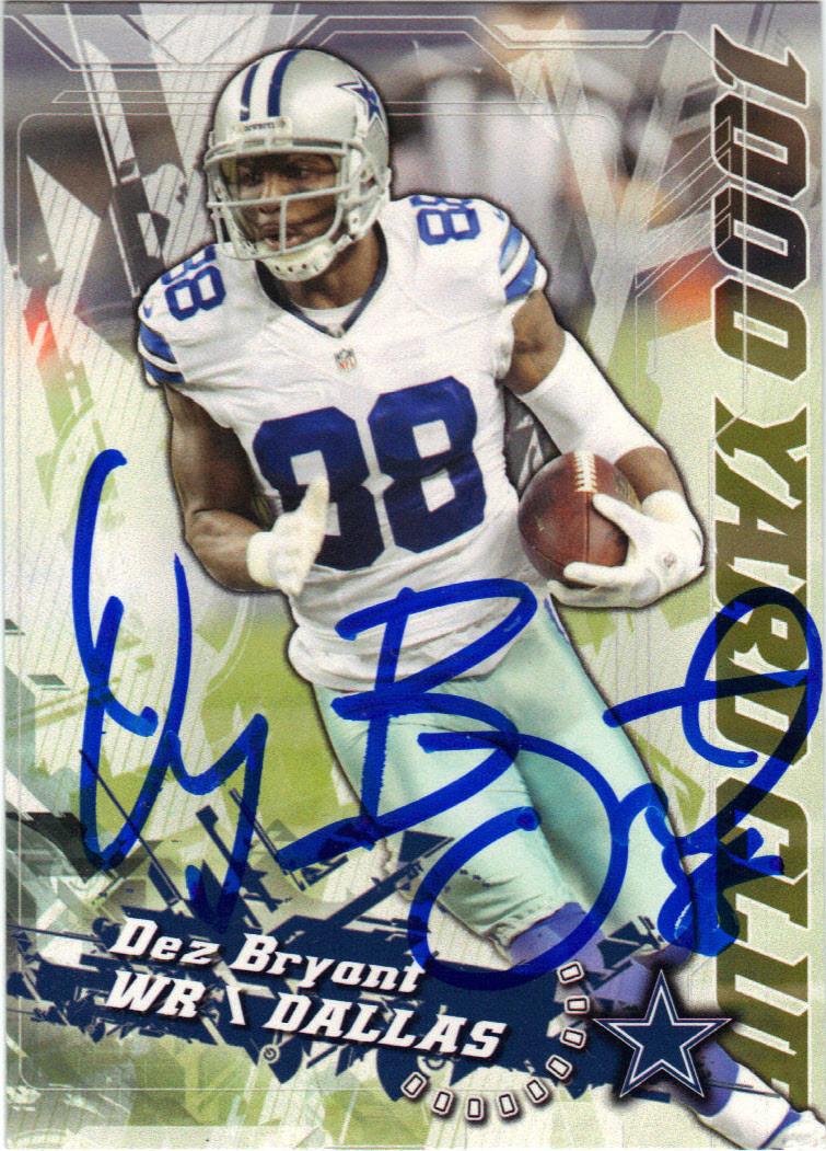 Dez Bryant Dallas Cowboys Autographed Football Card 12115o