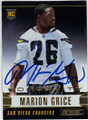 MARION GRICE SAN DIEGO CHARGERS AUTOGRAPHED ROOKIE FOOTBALL CARD #12215K