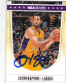 JASON KAPONO LOS ANGELES LAKERS AUTOGRAPHED BASKETBALL CARD #12715C