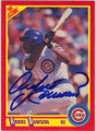 ANDRE DAWSON CHICAGO CUBS AUTOGRAPHED BASEBALL CARD #12715D