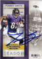 TORREY SMITH BALTIMORE RAVENS AUTOGRAPHED FOOTBALL CARD #12715J