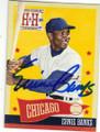 ERNIE BANKS CHICAGO CUBS AUTOGRAPHED BASEBALL CARD #12715N