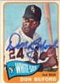DON BUFORD CHICAGO WHITE SOX AUTOGRAPHED VINTAGE BASEBALL CARD #12915A