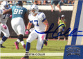 AUSTIN COLLIE INDIANAPOLIS COLTS AUTOGRAPHED FOOTBALL CARD #12915F