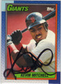 KEVIN MITCHELL SAN FRANCISCO GIANTS AUTOGRAPHED BASEBALL CARD #2215G
