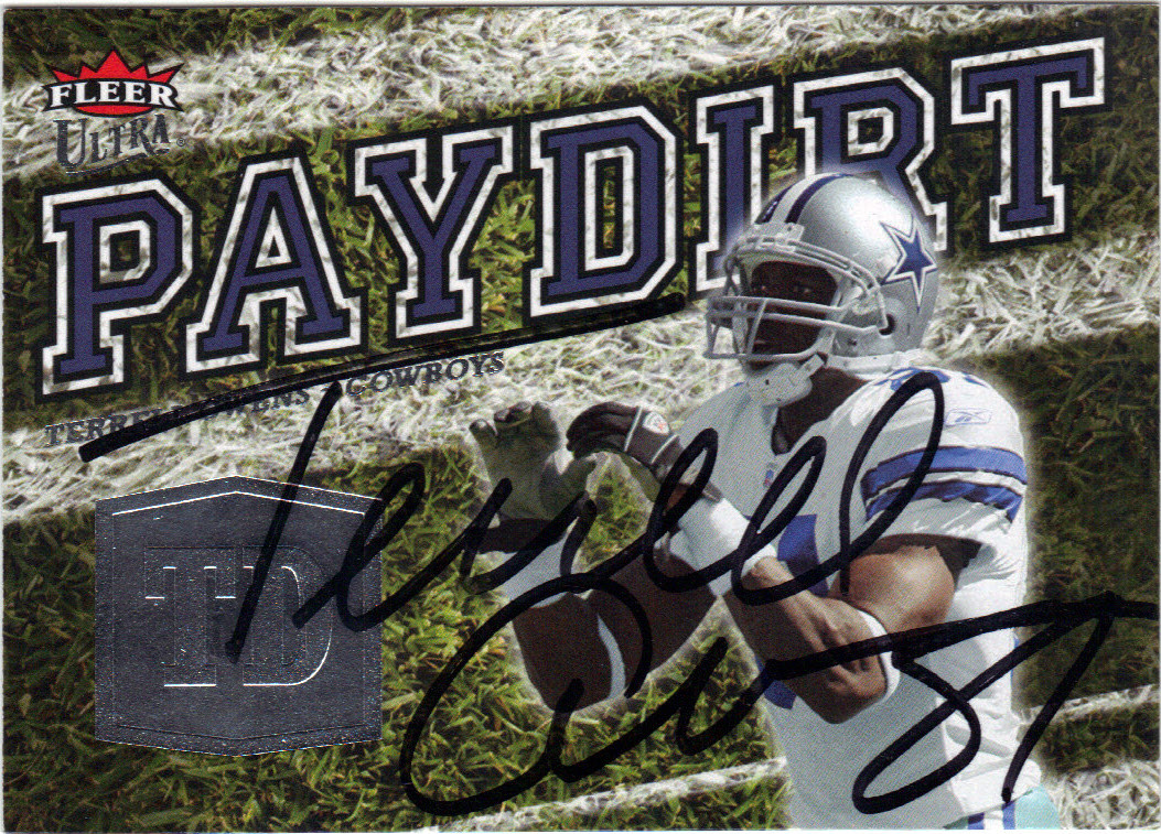 outlet store a4594 3e2db TERRELL OWENS DALLAS COWBOYS AUTOGRAPHED FOOTBALL CARD #20515E