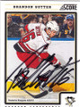 BRANDON SUTTER PITTSBURGH PENGUINS AUTOGRAPHED HOCKEY CARD #20615i