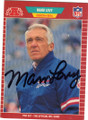 MARV LEVY BUFFALO BILLS AUTOGRAPHED FOOTBALL CARD #20615J