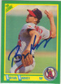 BRYAN HARVEY CALIFORNIA ANGELS AUTOGRAPHED BASEBALL CARD #20715D