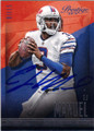 EJ MANUEL BUFFAO BILLS AUTOGRAPHED FOOTBALL CARD #20815K
