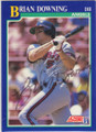BRIAN DOWNING LOS ANGELES ANGELS AUTOGRAPHED BASEBALL CARD #20815L