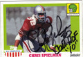 CHRIS SPIELMAN OHIO STATE BUCKEYS AUTOGRAPHED FOOTBALL CARD #20815M