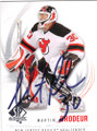 MARTIN BRODEUR NEW JERSEY DEVILS AUTOGRAPHED HOCKEY CARD #20915A