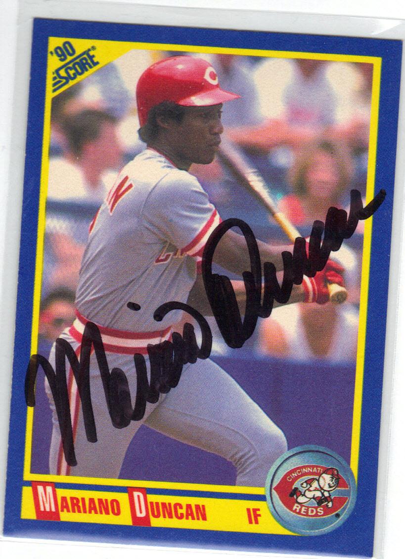 Mariano Duncan Cincinnati Reds Autographed Baseball Card 20915e