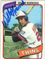 WILLIE NORWOOD MINNESOTA TWINS AUTOGRAPHED VINTAGE BASEBALL CARD #21215B