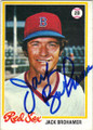 JACK BROHAMER BOSTON RED SOX AUTOGRAPHED VINTAGE BASEBALL CARD #22015E