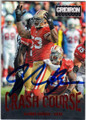 NaVORRO BOWMAN SAN FRANCISCO 49ers AUTOGRAPHED FOOTBALL CARD #22115B