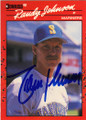 RANDY JOHNSON SEATTLE MARINERS AUTOGRAPHED BASEBALL CARD #22215D