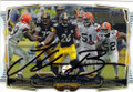 Le'VEON BELL PITTSBURGH STEELERS AUTOGRAPHED FOOTBALL CARD #22215E