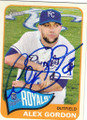 ALEX GORDON KANSAS CITY ROYALS AUTOGRAPHED BASEBALL CARD #22215H