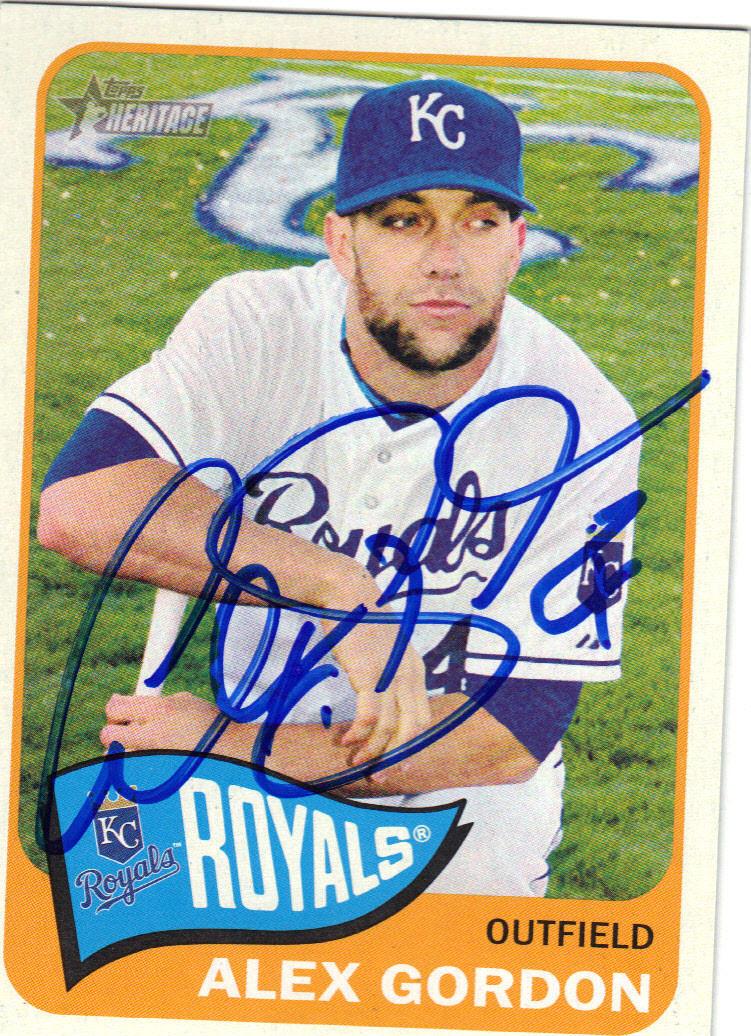 Alex Gordon Kansas City Royals Autographed Baseball Card 22215h