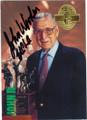 JOHN WOODEN UCLA COACH AUTOGRAPHED BASKETBALL CARD #22215i