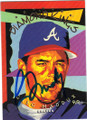 GREG MADDUX ATLANTA BRAVES AUTOGRAPHED BASEBALL CARD #22515R