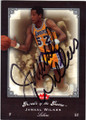 JAMAAL WILKES LOS ANGELES LAKERS AUTOGRAPHED BASKETBALL CARD #22415i